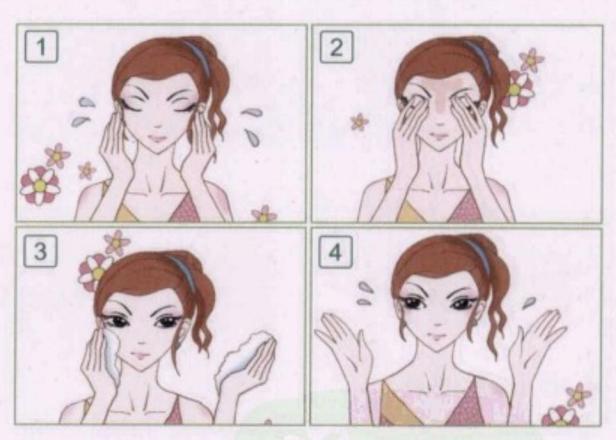 美丽女人之,如何让脸部保持清洁